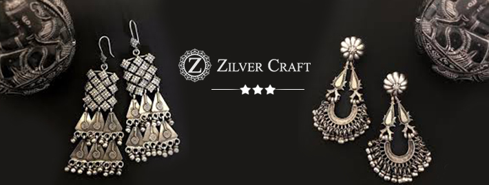 zilvercraft-jhumka earrings silver